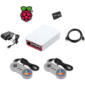 KIT RASPBERRY PI 3 ARCADE 2 MANDOS 32GB WIFI LAN